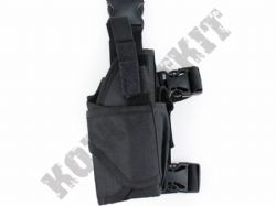 Right Leg Gun Holster Fully Adjustable for Airsoft Air Pistols & BB Handguns Black Tactical
